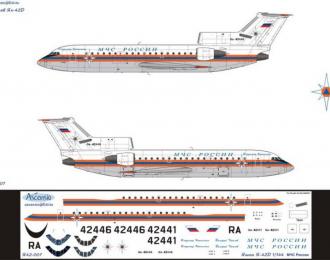 Декаль для самолета Як-42Д МЧС России