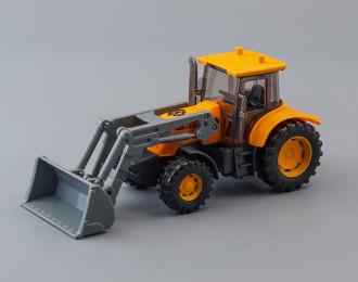 Трактор, желтый / серый