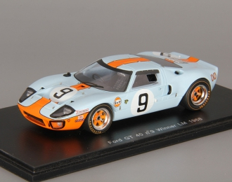 FORD GT 40 #9 Winner Le Mans (1968), blue / orange