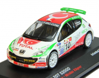 (Уценка!) PEUGEOT 207 S2000 #10 Nicolas Vouilloz Nicolas Klinger Istanbul Rally (2007), white
