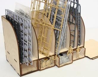 Модуль-органайзер для литников с ящиками.