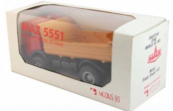 МАЗ 5551 самосвал, красно-оранжевый