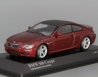 BMW M6 Coupe (2006), dark red