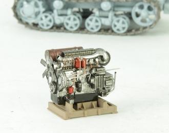 Двигатель тракторный на поддоне (хром)