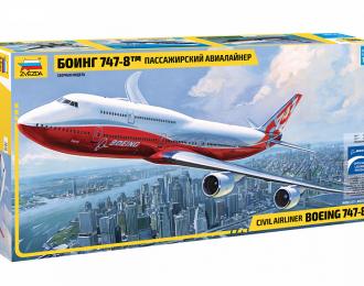 Сборная модель пассажирский авиалайнер Боинг 747-8