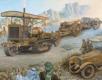Сборная модель Артиллерийский трактор Holt 75 с гаубицей BL 8-inch