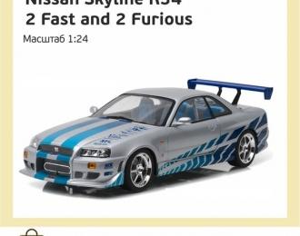Набор декалей NISSAN Skyline R34 из к/ф Двойной форсаж (2 Fast 2 Furious)