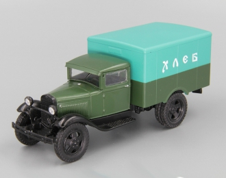 Горький АА фургон Доставка хлеба, Автомобиль на службе 34, зеленый