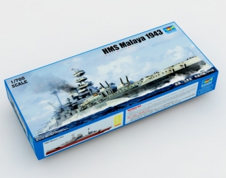 Сборная модель Британский линкор HMS Malaya (1943 г.)
