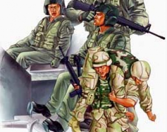 Сборная модель Американская пехота и экипаж CH-47D