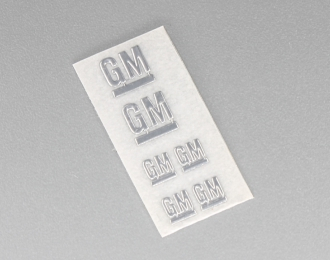 Наклейка объёмная металлизированная логотипы GM