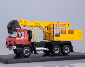 Экскаватор-планировщик UDS-114A (на шасси Tatra-815), красный / желтый