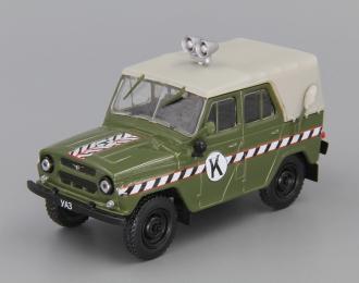 УАЗ 469 Коммендатура, Автомобиль на службе 57, зеленый