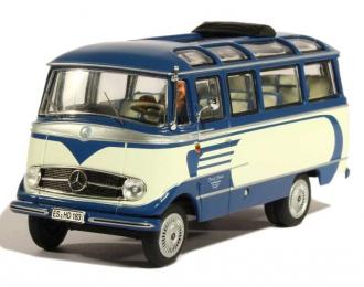 МERCEDES-BENZ O319 bus, blue / white