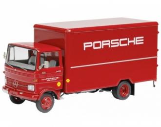 MERCEDES-BENZ LP 608 Koffer-LKW PORSCHE (1965), red