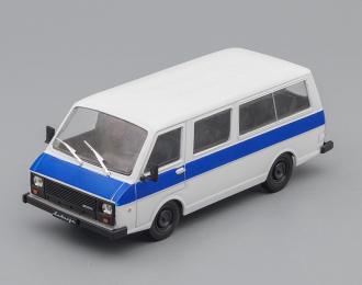 РАФ 22038 Латвия, Автолегенды СССР 74, белый / синий