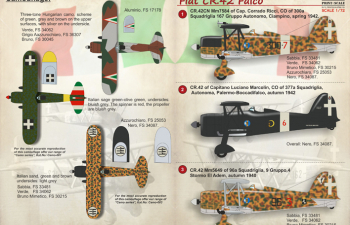 Fiat CR.42 Falco Wet decal