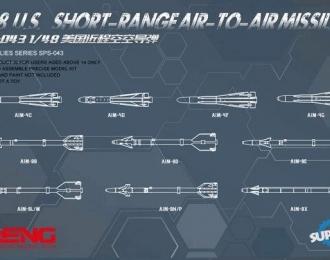 Сборная модель Набор американских ракет класса воздух-воздух малой дальности