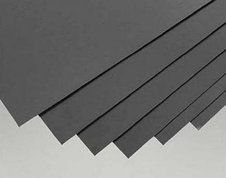 Пластик листовой 1 лист 0,7 mm (Чёрный) + 1 лист 1,2 mm (Белый) размер 15x30cm