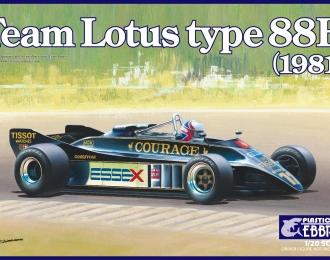Сборная модель Спортивный автомобиль Team Lotus type 88B 1981