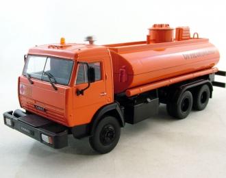 Камский грузовик 5320 (53215) Перевозка нефтепродуктов, Автомобиль на службе 69, оранжевый