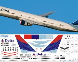 Декаль на самолет боенг 767-400ER (Dlta Arlines)