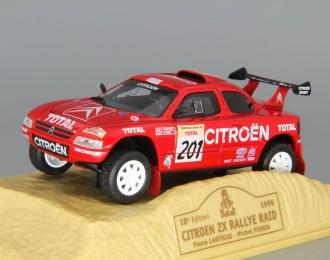 CITROEN ZX Rallye Raid #201 Pierre Lartigue - Michel Perrin, red