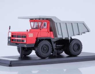 БЕЛАЗ-7522 карьерный самосвал, красный / серый