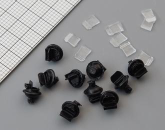 Светомаскировочная насадка (открытая) со стеклом, комплект 10 шт.