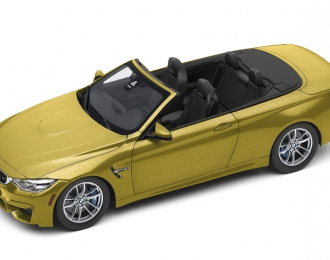 BMW M4 Convertible F83 (2015), yellow metallic