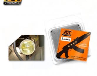 Линзы прозрачные желтые AMBER 2,3mm