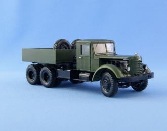(KIT) Советский балластный тягач ЯАЗ-210 Г деревянная кабина, шины GRIP