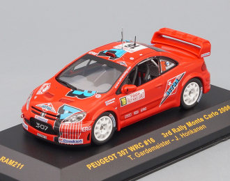 PEUGEOT 307 WRC 16 T.Gardemeister-J.Honkanen 3rd Rally Monte Carlo 2006, red