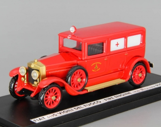 FIAT 519S Vigili del Fuoco Ambulance Fire Engine (1930), red