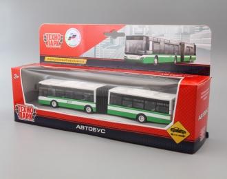Автобус, зеленый / белый