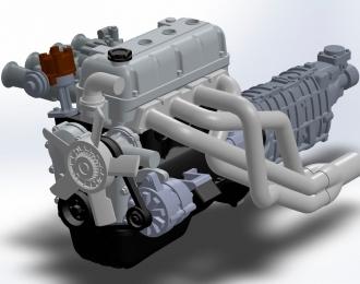 (КИТ) Двигатель Toyota 3TC