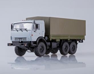 КАМАЗ-53501 6x6 бортовой, серый / хаки