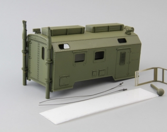 Надстройка Радиостанция Малолеток (командный пункт) на шасси Камский грузовик, хаки