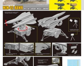 Сборная модель Американский ЗРК MIM-23 Хоук M192
