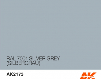 Краска акриловая RAL 7001 SILVER GREY (SILBERGRAU) 17ML