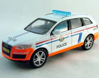 AUDI Q7 Police Luxembourg, Полицейские Машины Мира 28, белый