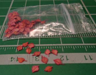 Листья для диорам Осина красная (окрашенные)