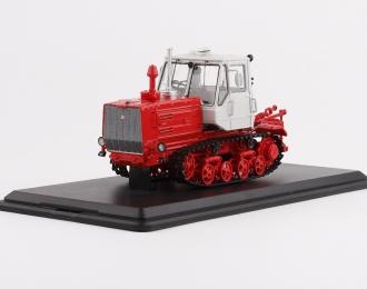 Трактор Т-150 гусеничный, красный / белый