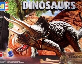 Сборная модель Динозавр Трицератопс (Подарочный набор)