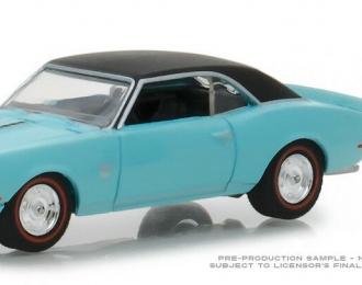 CHEVROLET Camaro SS with Vintage Gas Pump1968 Light Blue