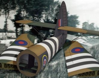 Сборная модель Horsa Glider Wing & Rear Fuselage (Tail Unit) Set GERMAN WWII