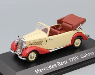 MERCEDES-BENZ 170 V Cabriolet, red / beige