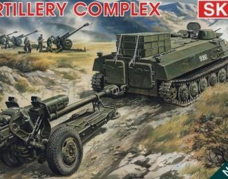 Сборная модель Советский гусеничный артиллерийский тягач МТ-ЛБ со 122мм гаубицей Д-30