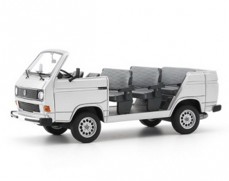 VOLKSWAGEN T3 factory tour convertible, silver,Germany,1982