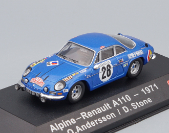 ALPINE RENAULT A110 #26 O.Andersson/D.Stone Winner Rally Monte Carlo 1971